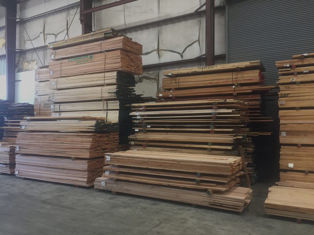 The selection of Lumber in Fresno