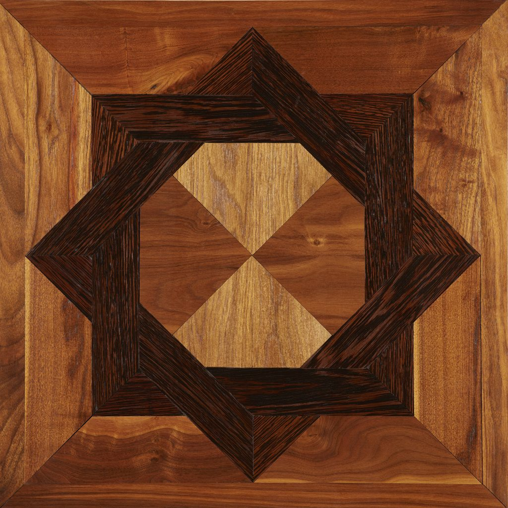 Parquet hardwood Flooring in Star Shape