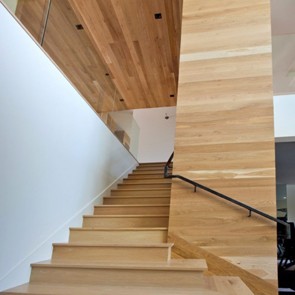 Plainsawn White Oak Project - Stairs, Walls, Ceilings