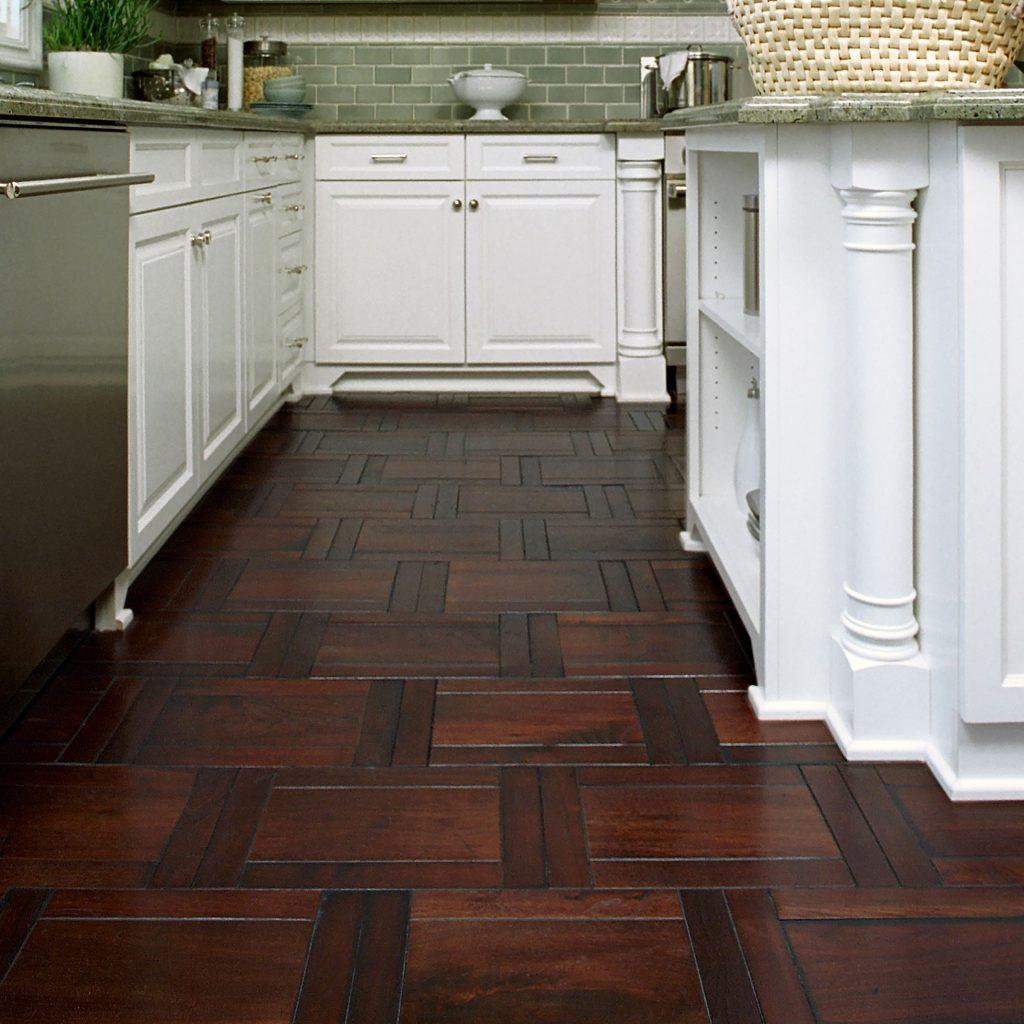 Kitchen, Parquet Hardwood Floor
