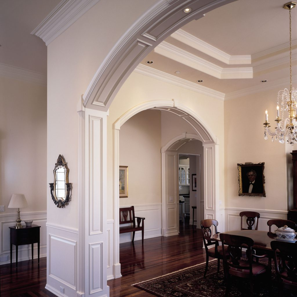 Traditional Dining Room Hardwood Moulding