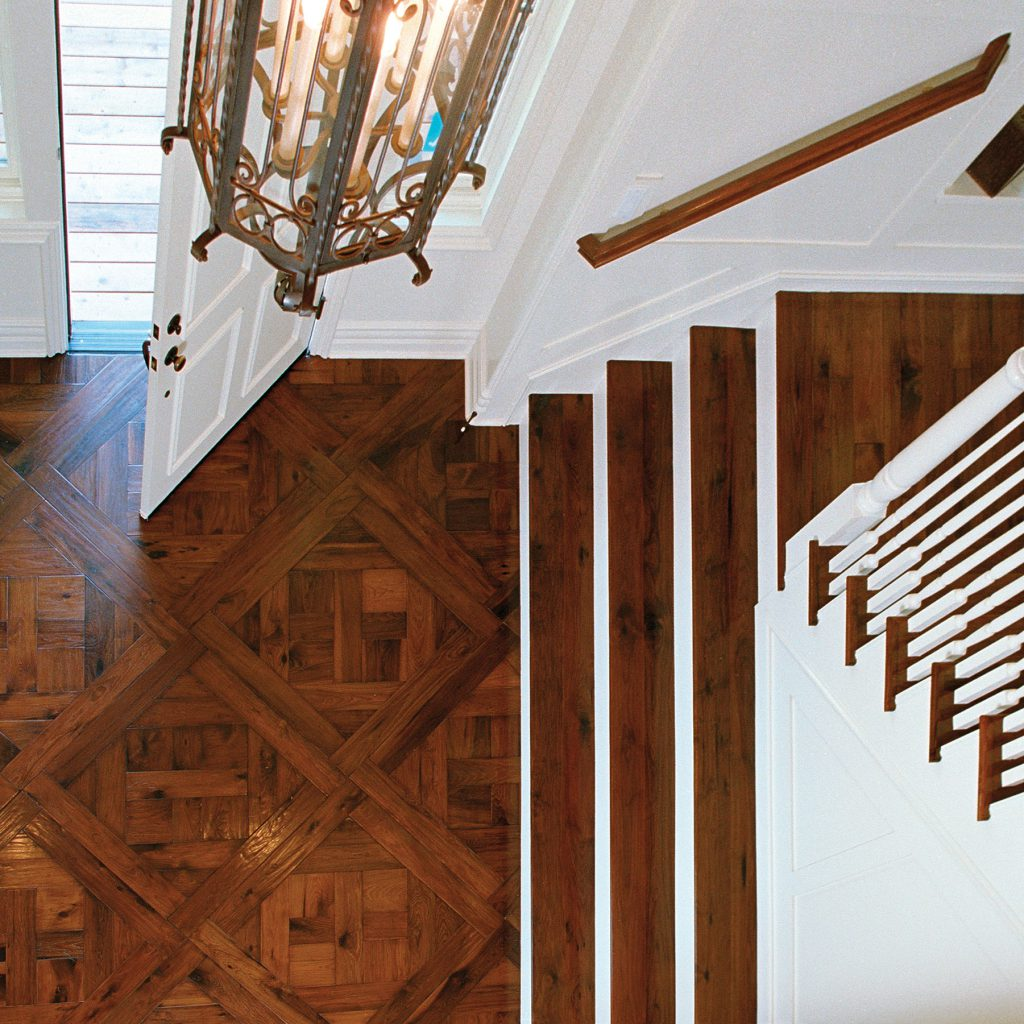 Traditional Parquet Entry with Staircase