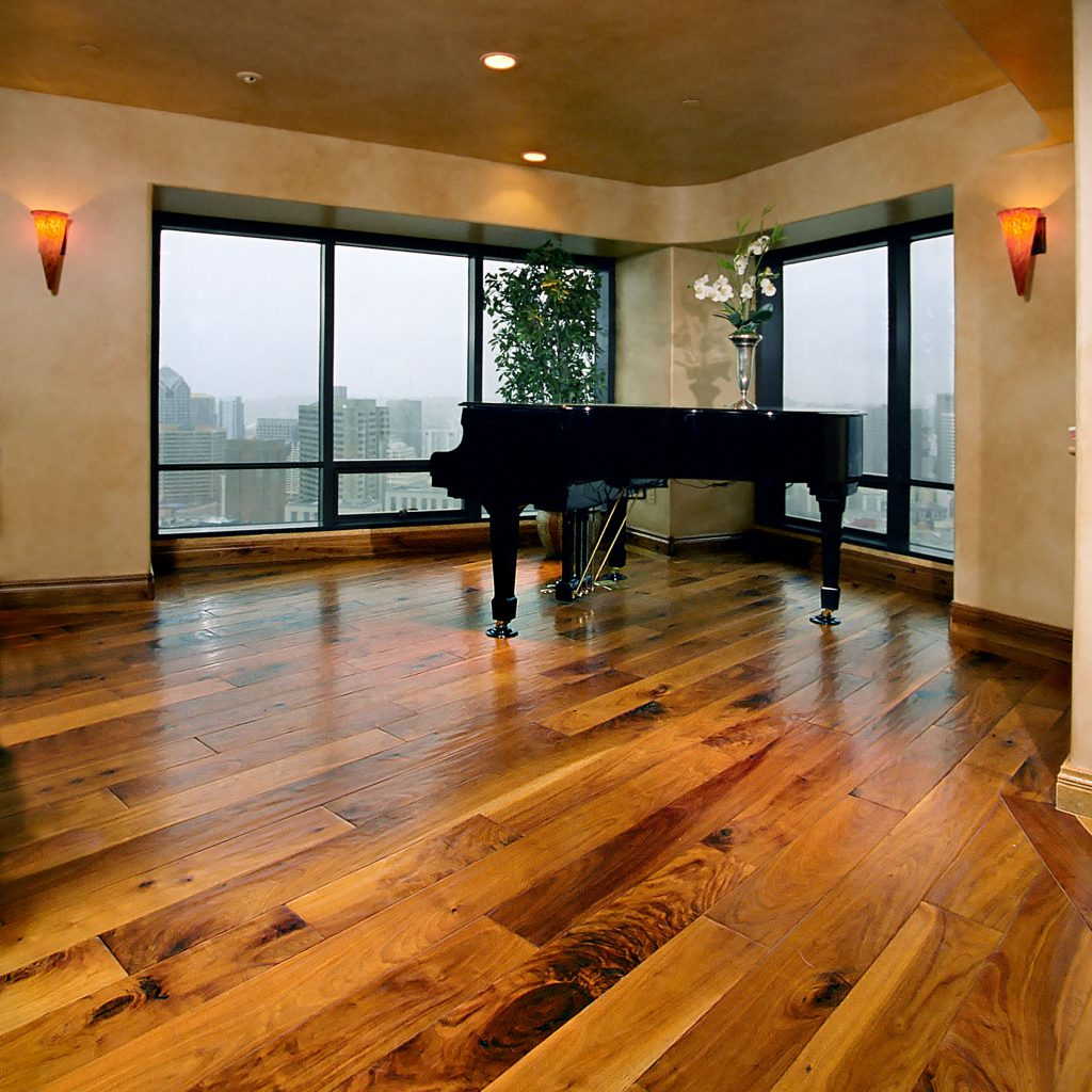 Penthouse Hardwood Flooring with Piano